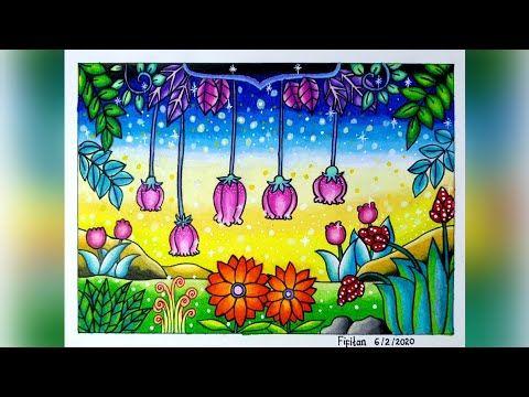 Cara Gradasi Warna Ep 189 Tema Mewarnai Taman Bunga Youtube Gambar Pastel Seni Lukisan Minyak