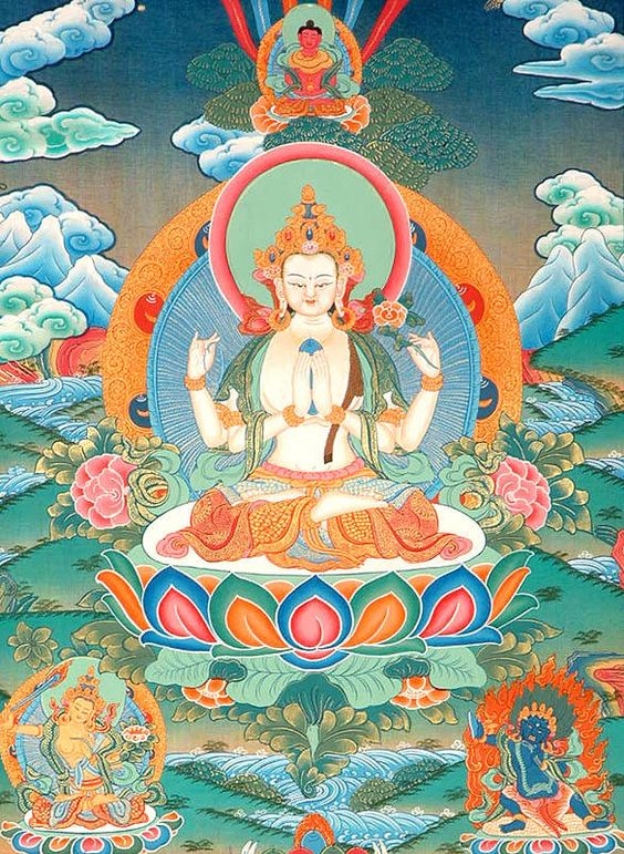 Story Behind six practices mantras