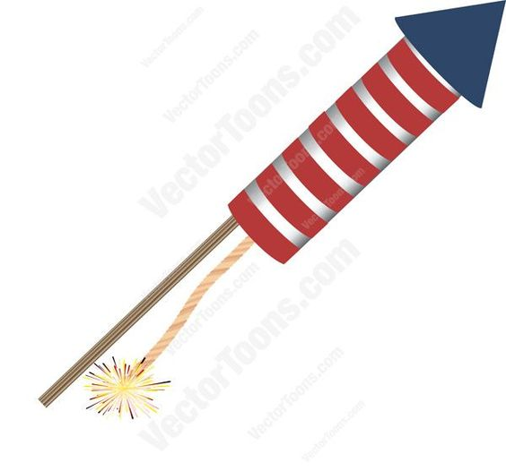 Red And White Striped Firework Rocket With Blue Tip Pointing Right #4th #banger #banner #birthday #canada #canadian #celebration #detail #display #firecracker #fireworks #flag #fourth #header #holiday #identity #independencedayfreedom #july #July1 #logo #mapleleaf #nationalism #noisemaker #patriotic #PDF #pride #pyrotechnics #red #rocket #symbol #vectorgraphics #vectors #vectortoons #vectortoons.com #white