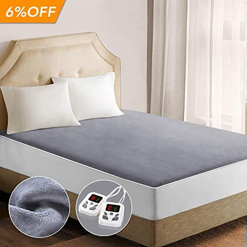 Heated Mattress Pad Underblanket Dual Controller For 2 Users Soft