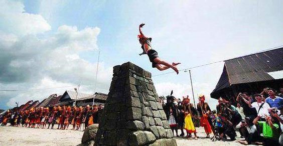 Lompat batu (Jummping Stone), Nias only in Indonesia.