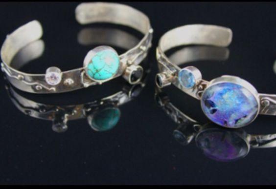 Sterling silver bracelets By Barbara Marks Sold
