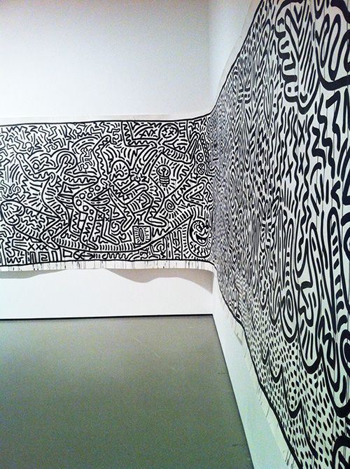 KeithHaring in a museum MOMA
