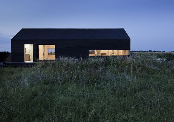 Stealth Barn Exterior Night