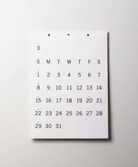 Minimalist Calendar Design : Calendar design and minimal on pinterest