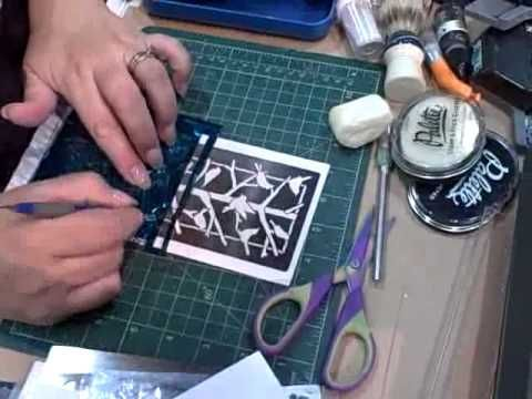 ▶ Dreamweaver Stencils with Foil and Flocking - YouTube