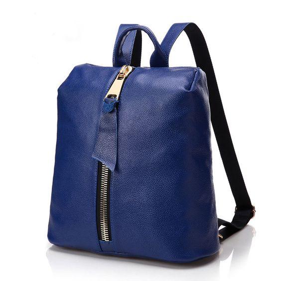 2016 nuevo bolsas de piel auténtico para niñas mochila de moda de buena calidad barato [