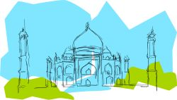 India The Taj Mahal by kablam - drawn by pencilsauce.com using the cool new feaures in Inkscape o.47. Download it at www.inkscape.org. A sketch of the Taj Mahal. The Taj was built by a Mughal king called Shah Jahan in memory of his wife Mumtaz Mahal. More info here: http://en.wikipedia.org/wiki/Taj_Mahal There's also a nice SVG Taj here... http://openclipart.org/people/shokunin/shokunin_world_landmarks_egipt_paris_sydney_ny_taj_mahal_1.svg