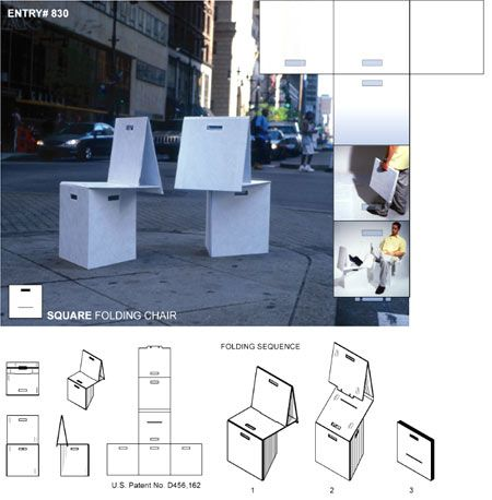SQUARE FOLDING CHAIR
