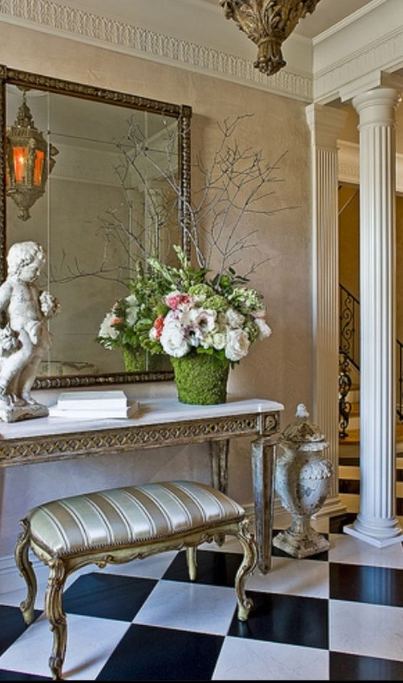 Luxury homes luxury and entryway on pinterest for French country foyer