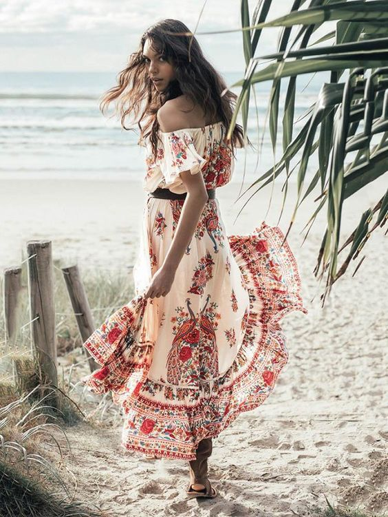 Sku LJXP-1327 Style Bohemia,Floral Occasion Daily/Casual Material Cotton Blend Pattern Bohemia Dress Color Same As Picture Size S,M,L,XL Belt No Size Chart: (We have provided this item's measurements to help you decide which size to buy.) (Units/Inches) Size Bust Waist Length S 37.7 29.9-31.4 37.7-48 M 39.3 30.7-32.2 37.7-48.4 L 40.9 32.3-33.8 38.1-48.8 XL 42.5 33.9-35.4 38.5-49.2 ...
