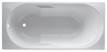 Cooke & Lewis Shaftesbury Shaped Acrylic Bath 1600mm, 0000003826362  Short and deep!