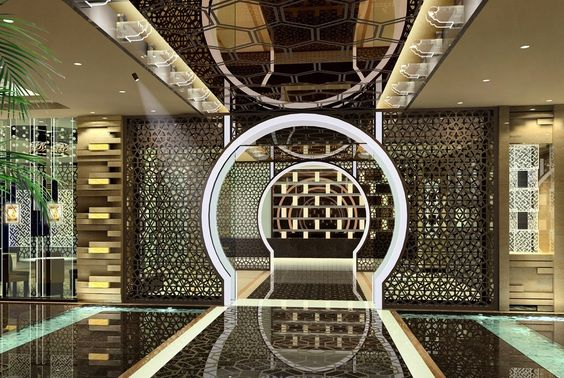 hotel interior design - Superb Lobby Hotel Interior Design with Great Lighting and ccent ...