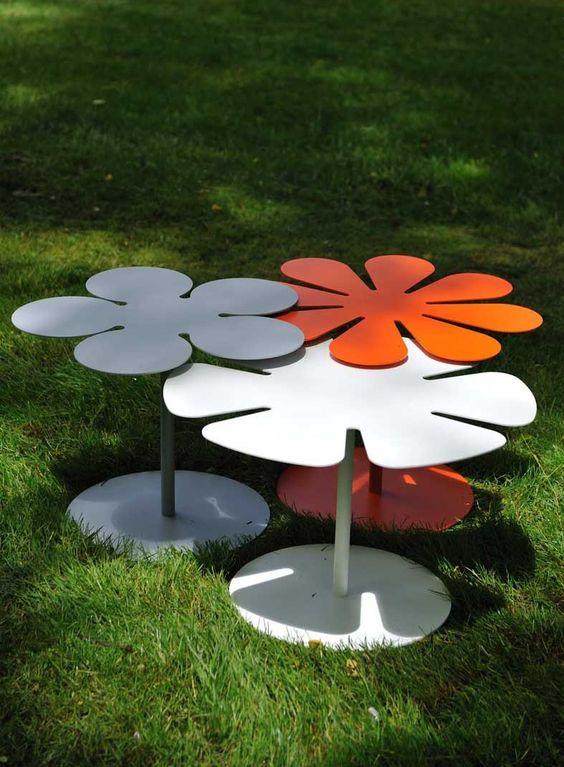 Mesas auxiliares de dise o bora decoracion beltran tu - Decoracion de terrazas y jardines ...