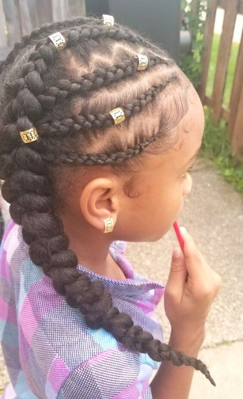 22 Adorable Braids With Beads Hairstyles For Black Kids With