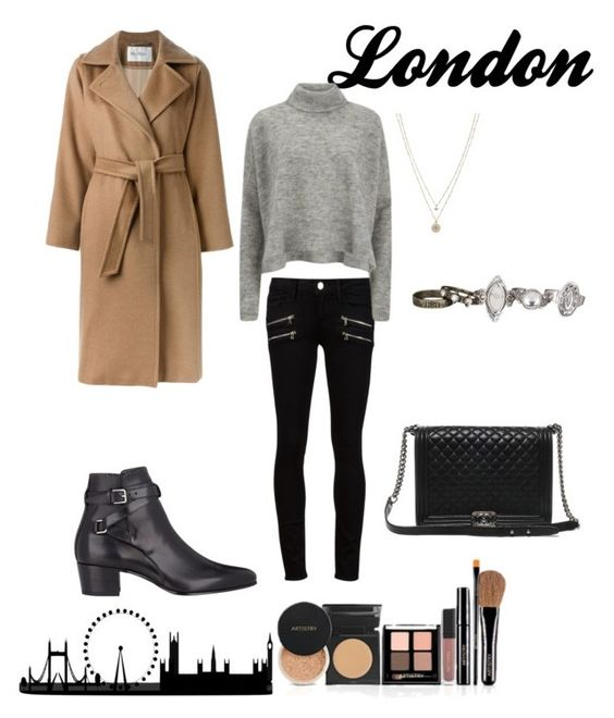 """London"" by chase-stars ❤ liked on Polyvore featuring MaxMara, Paige Denim, Designers Remix, Yves Saint Laurent, LC Lauren Conrad, maurices, Chanel, women's clothing, women and female"