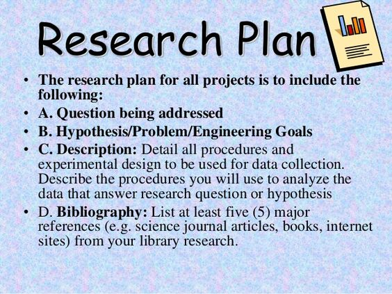 science research plan example - Google Search Science Project - research plan