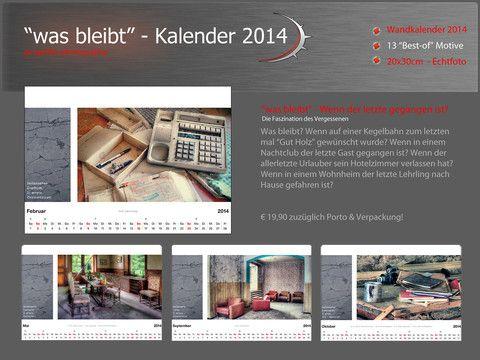 """""""was bleibt"""" - Kalender 2014"""