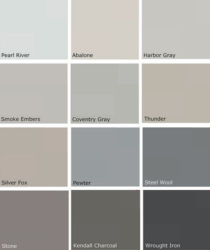 light gray paint colorsBenjamin Moore Warm Gray Colors  Image via designdazzleblogspot