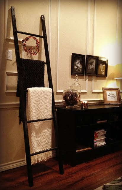 This is awesome, when all else fails, DIY! I've been flea marketing for one of these but the cheapest I've found was $50 and most were for display only (not for sale)... Quilt Ladder for less than 10 bucks - DIY (ladders, quilts, prayer rugs)