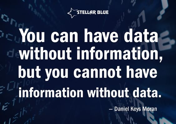 """You can have data without information, but you cannot have information with data."" -Daniel Keys Moran We have all the data you need with ‪Stellar Analytics‬ http://stellarbluetechnologies.com/marketing/analytics/"