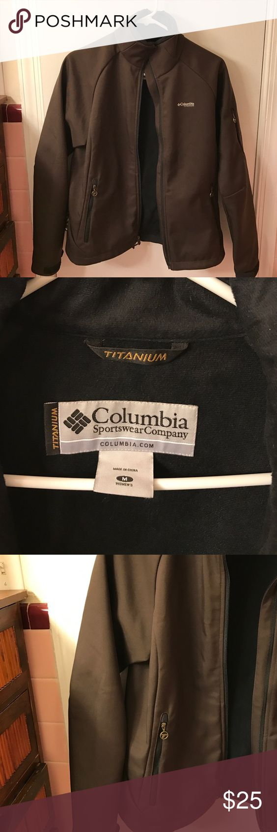 Columbia titanium jacket Really warm perfect condition Columbia  jacket/coat.   I have another one that North face that fits better so I never wear it.  It's a true medium and a little too small for me.  It's really in like new condition I think I wore a few times. Columbia Jackets & Coats Utility Jackets