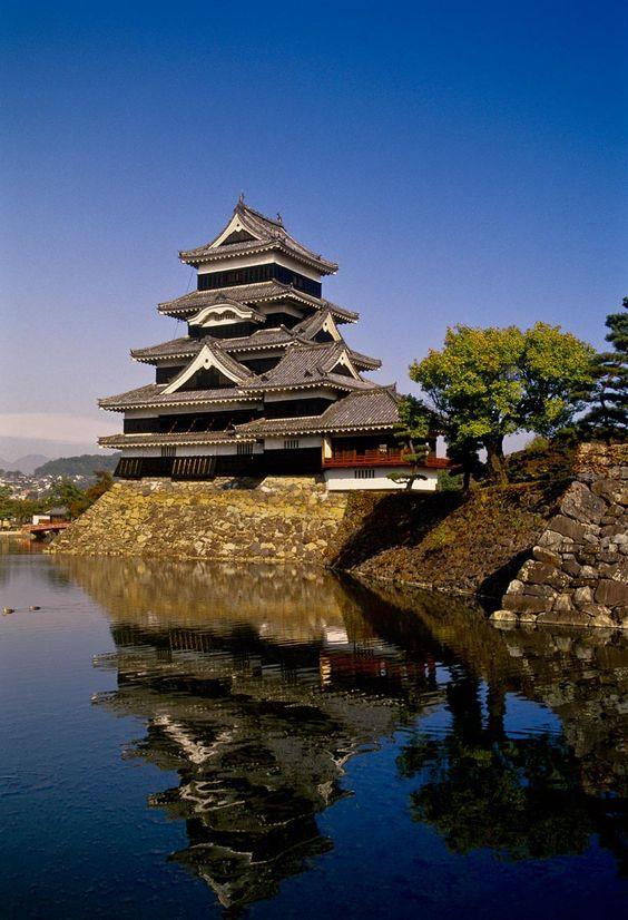 Castillo Matsumoto, Nagano, Japón