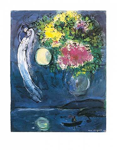 Marc Chagall - Liebespaar mit Blumen (1949)