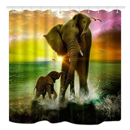 ee751ceb62f74129f88eb9519f7e391d - Better Homes And Gardens Global Elephant Shower Curtain
