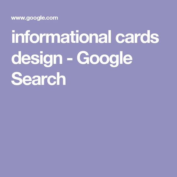 informational cards design - Google Search