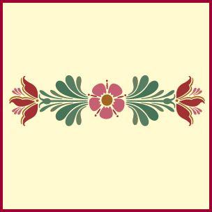 Rosemaling pattern 12 stencil swedish kurbits norwegian decorative