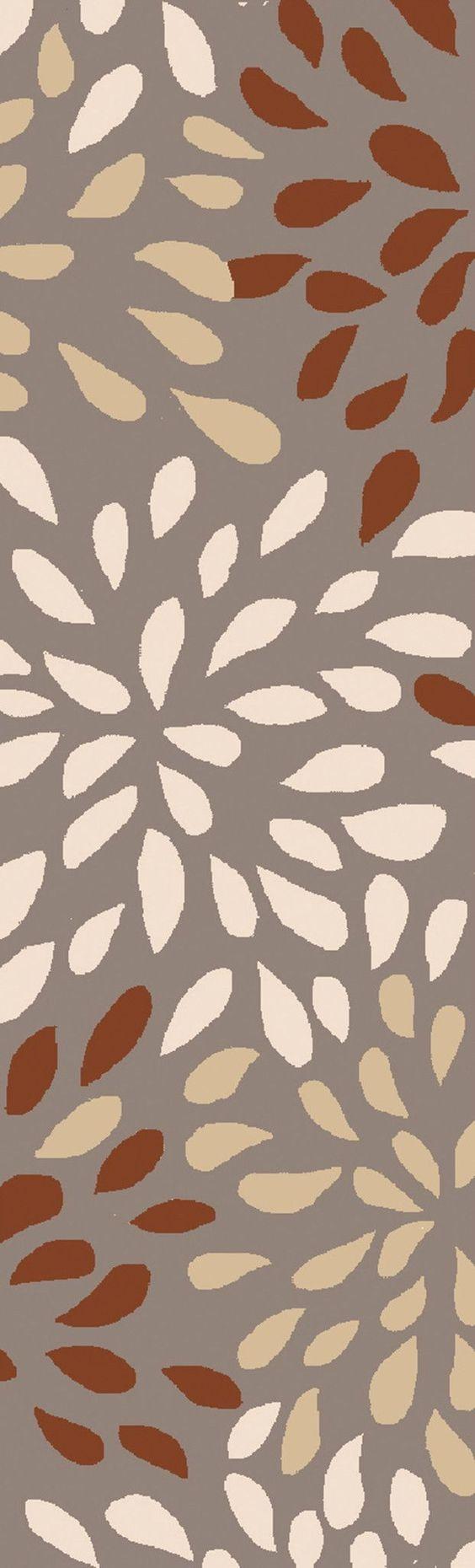 Surya COS9264 Cosmopolitan Orange, Gray Runner Area Rug