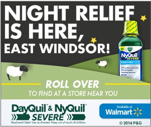 DayQuil Walmart Banner Ad Flat Vector Graphics