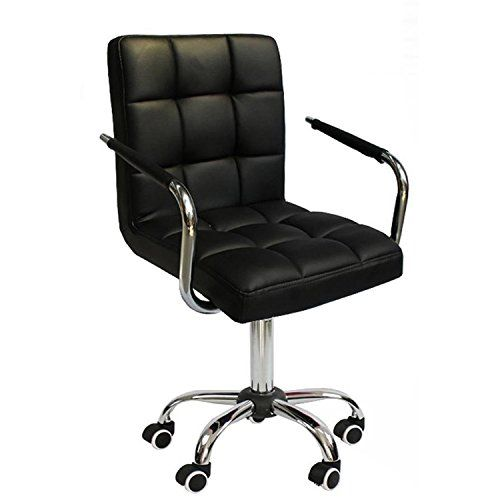 Stupendous Popamazing Black Faux Leather Home Office Computer Desk Gmtry Best Dining Table And Chair Ideas Images Gmtryco
