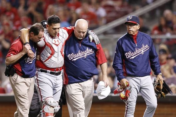 May 12 - WSH at CIN - Catcher Wilson Ramos is carried off field with a tore ACL. Ramos is the 12th National to be on the DL this season, joining key players such as Michael Morse, Drew Storen, Brad Lidge and Jayson Werth.