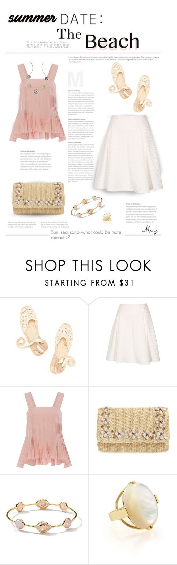 """""""Summer Date: The Beach"""" by thewondersoffashion ❤ liked on Polyvore featuring Soludos, TIBI, Glint and Ippolita"""