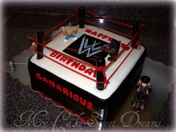 how to make a wwe cake