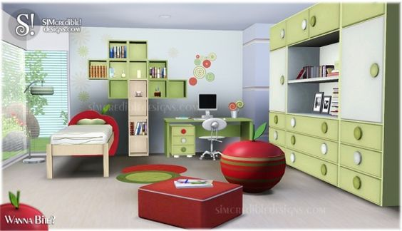 Wanna Bite kids room at Simcredible Designs - Sims 3 Finds