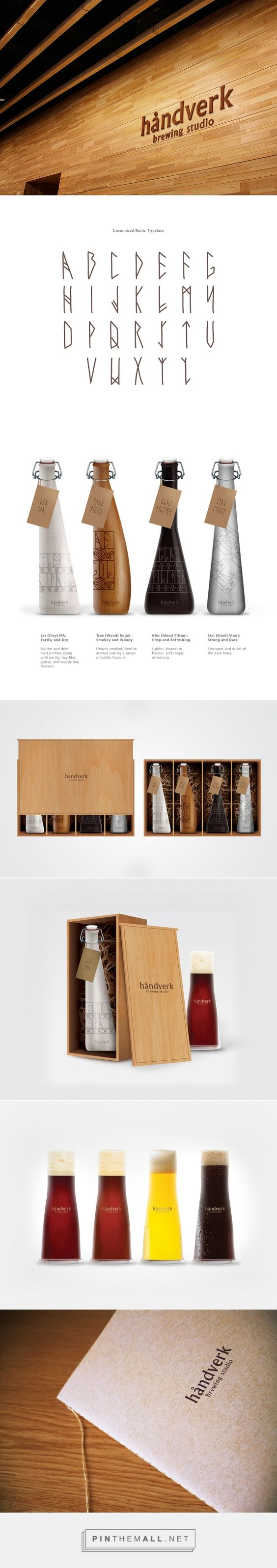 Håndverk Brewing Studio on Behance by ZiYu Ooi Penang Island, Malaysia curated by Packaging Diva PD. Read this story and look at this stunning bottle packaging.