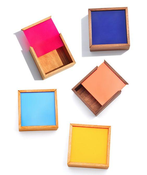 Square Colour Chip Boxes at Leif
