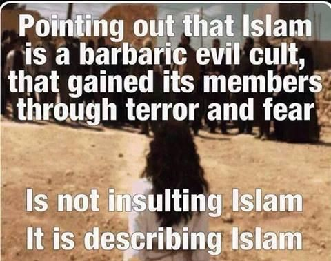 .Point out that islam is a barbaric evil cult....:
