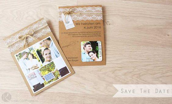 Save The Date Karten Selber Basteln : Save the Date Karten selber basteln Anleitung Kostenlos Magnet billig
