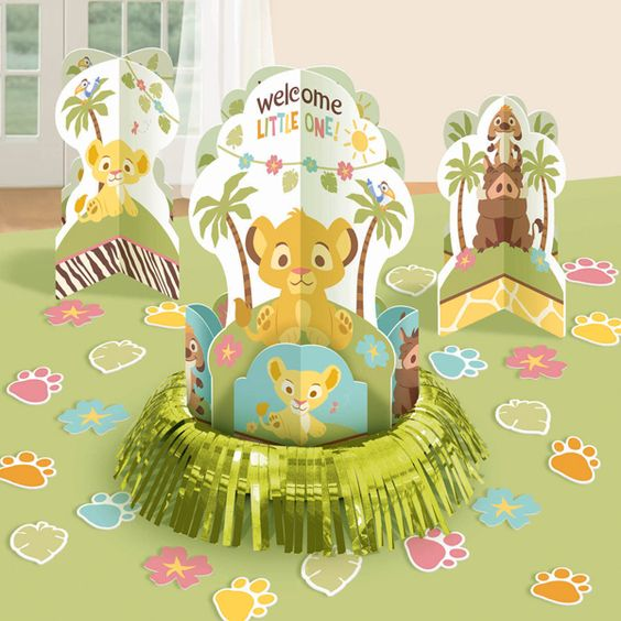 Lion King Baby Shower Table Decorating Kit