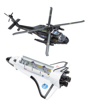 Another great find on #zulily! Space Shuttle & Black Hawk Helicopter Set #zulilyfinds