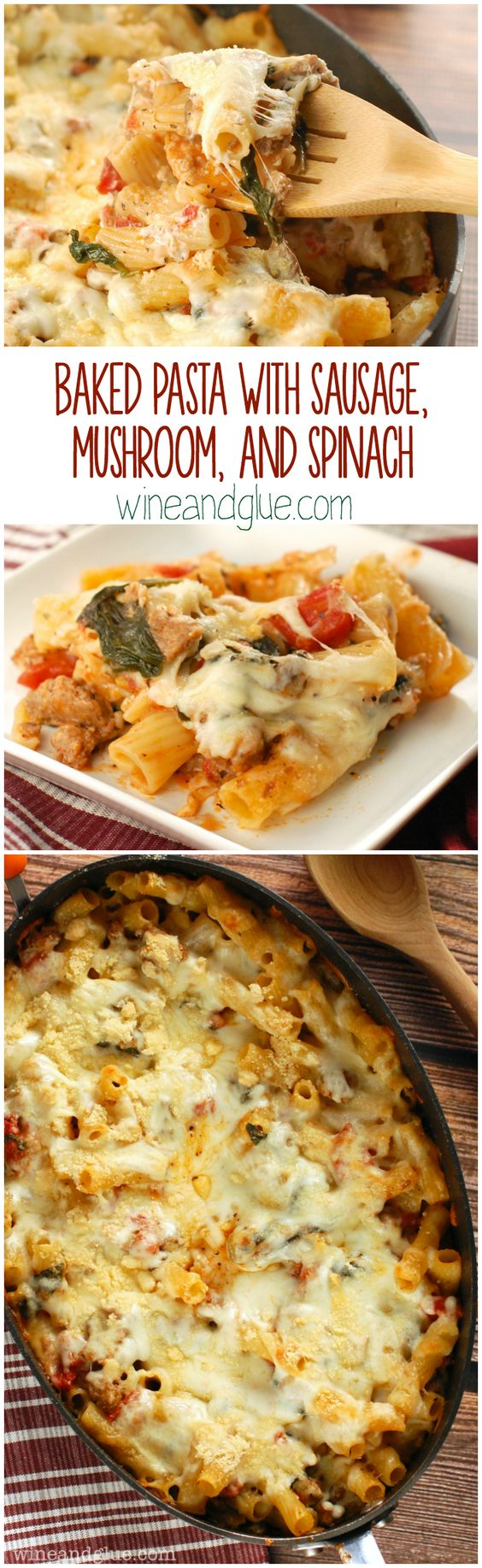 Pasta with sausage, Sausages and Spinach on Pinterest