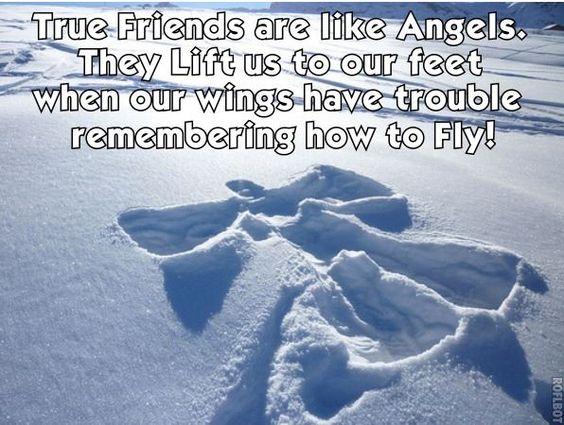 sneeuw engelen.