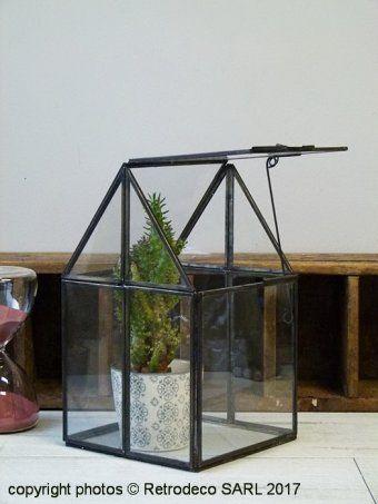 Mini Serre De Jardin Ou Terrarium House Verre Et Metal Chehoma