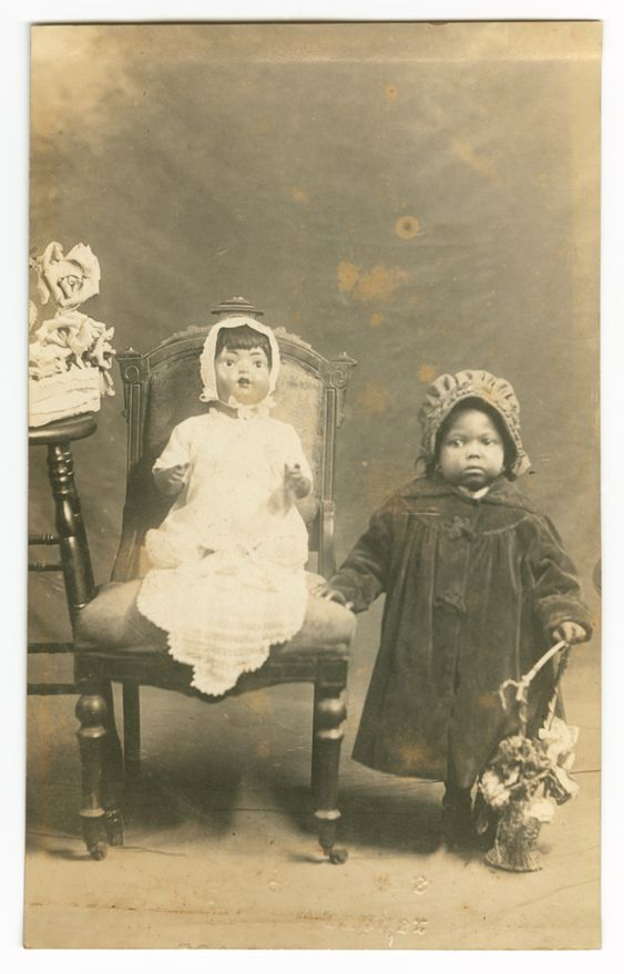 Little girl with doll -victorian: