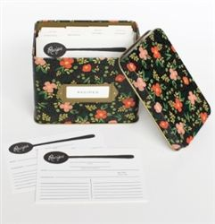 Rifle Paper Co. Midnight Garden Recipe Box