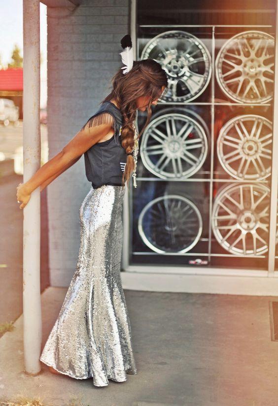 luna lune - wow! #fishtail glamours skirt and t-shirt - little fringe detail
